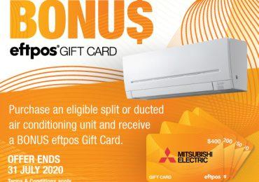Mitsubishi Electric's 2020 Winter Gift Card Campaign